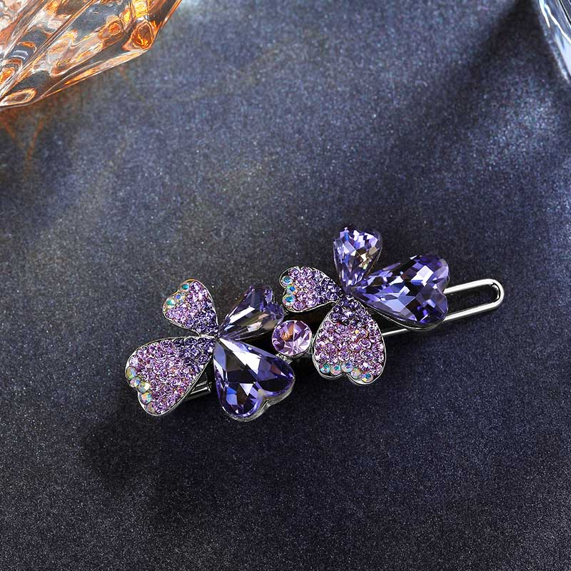 CHIMERA Bling Imitation Crystal Rhinestones Hair Clip Bobby Pins Women Jewelry Hair Accessories High Quality Flower Hairpins in Hair Jewelry from Jewelry Accessories