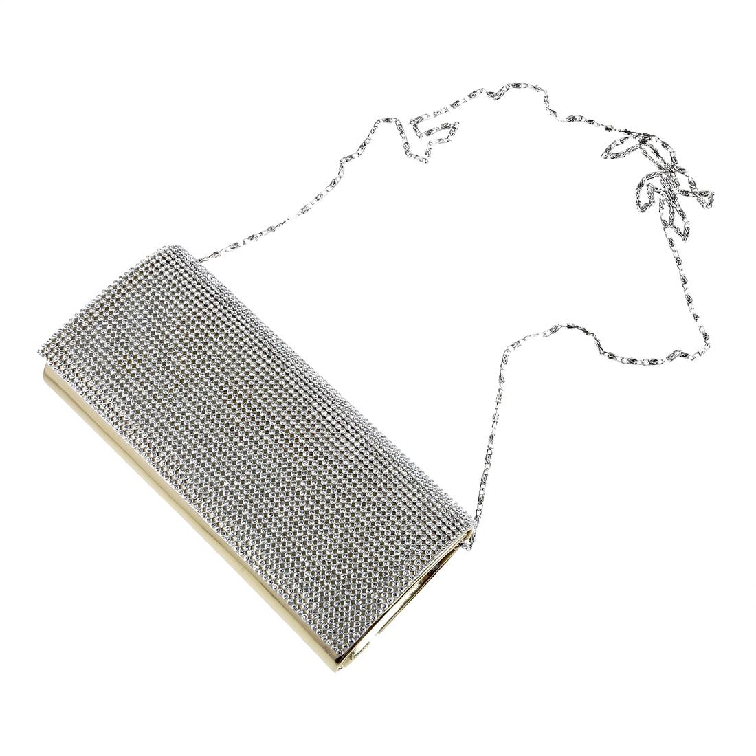 Кожа лак Rabat комплект вечерняя сумочка кошелек со стразами для женщин Девушка Золото