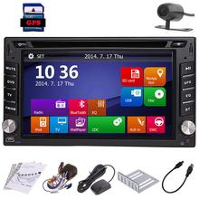 6.2 Inch Double din 2 DIN  In Dash GPS Navi Car DVD CD Player support Bluetooth FM AM RDS Auto Stereo Radio USB with free CAMERA