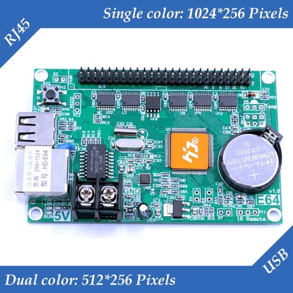 HD-E64 U-Disk / RJ45 Network Port Single Color& Dual Color LED Display Screen Controller