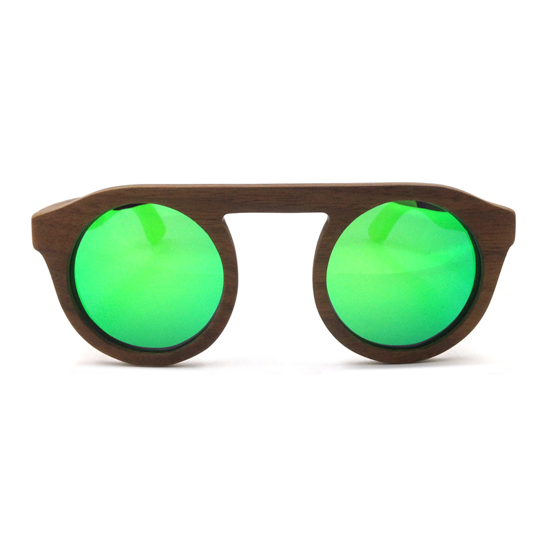 Laura Fairy Mens Women Sunglasses Brand Designer Blue Green Yellow Round Pure Wood Sunglass Polarized Uv Protection Sun Glasses