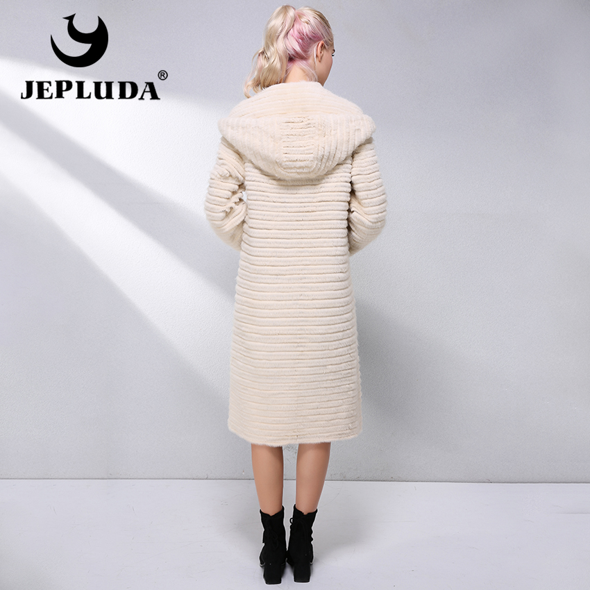 cbfd55a1b JEPLUDA Hot Sale Real Mink Fur Coat Women Clothes Double Sided With ...