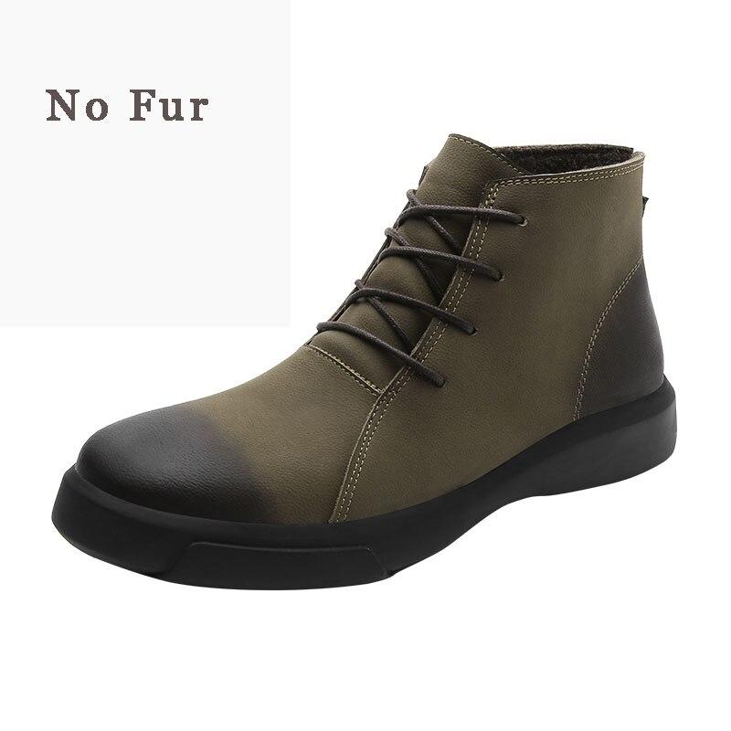 Dos Alta Casual Chaussure De Genuíno Homens Homme brown Grande Top Couro Deserto Moda Sapato Black Masculino Bota Tamanho khaki Botas Clax 5qXxq8