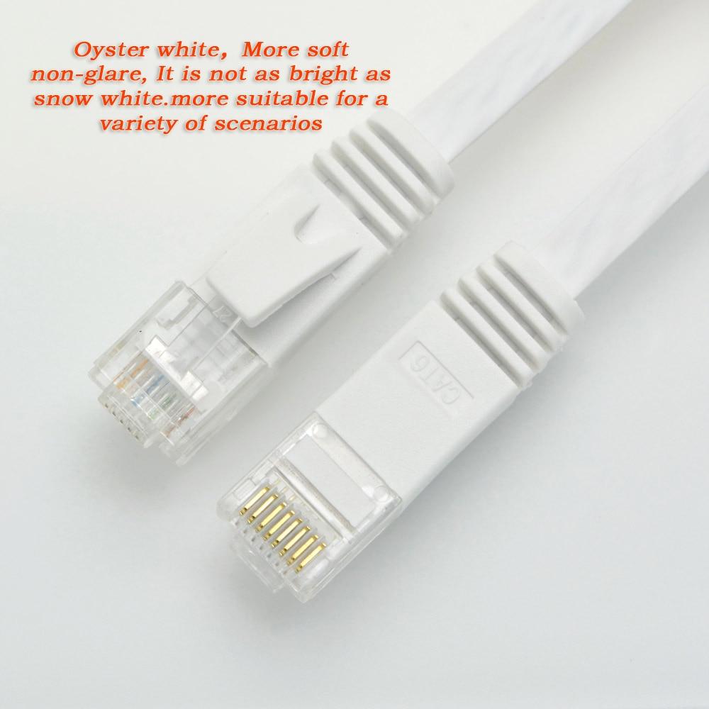 10 pies 3 m plano Cable de red UTP CAT6 Cable de computadora Gigabit - Cables de computadora y conectores - foto 6