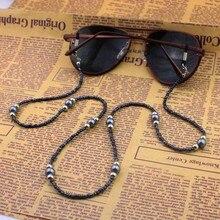 Мужчины Женщины Высокого качества Из Бисера Аметист Очки Eyewears Солнцезащитные Очки Очки для Чтения Цепи Шнура Держатель шейный ремешок Веревка