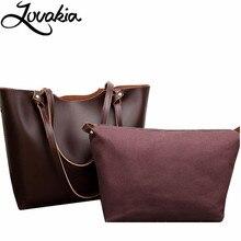 LOVAKIA vintage ladies hand bag women's genuine leather handbag black tote bolsas femininas female shoulder