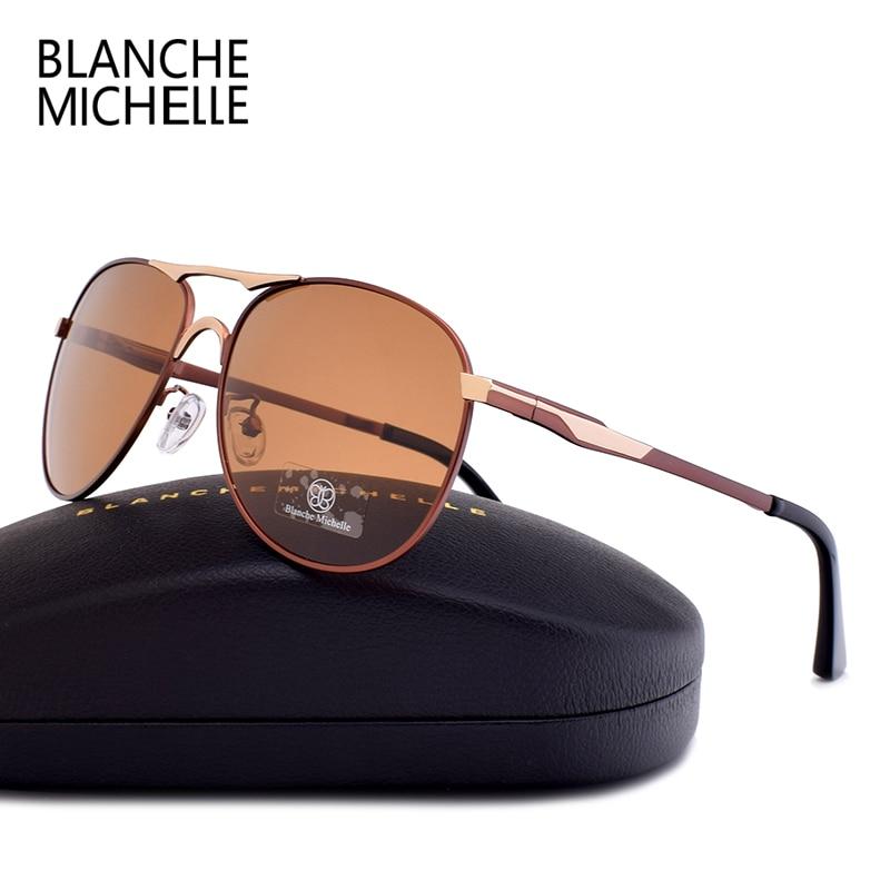 Blanche Michelle Brand classic Pilot Sunglasses Men Polarized UV400 Men 39 s Sun Glasses Male Driving oculos gafas de sol hombre in Men 39 s Sunglasses from Apparel Accessories