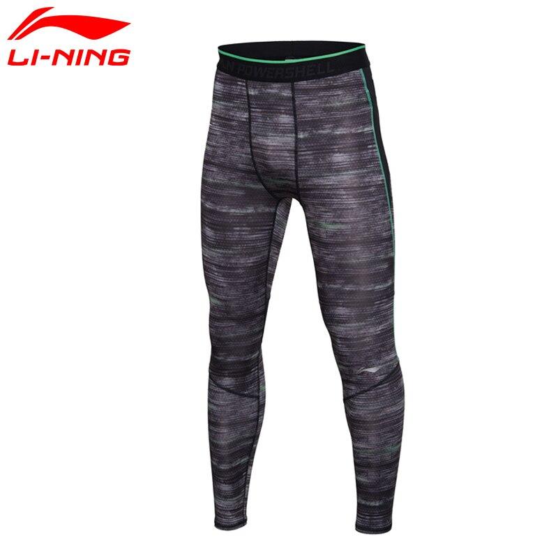 Li-Ning Men's Gym Training Tights Base Layer Pants AT Dry Comfort LiNing Sports Pants AULM033 MKY297