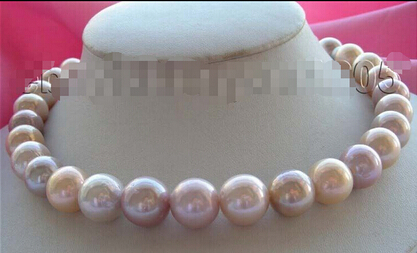 hot-selling +++817 Genuine Natural Multicolor Round Pearl Necklace hot selling 100% natural pseudo ginseng