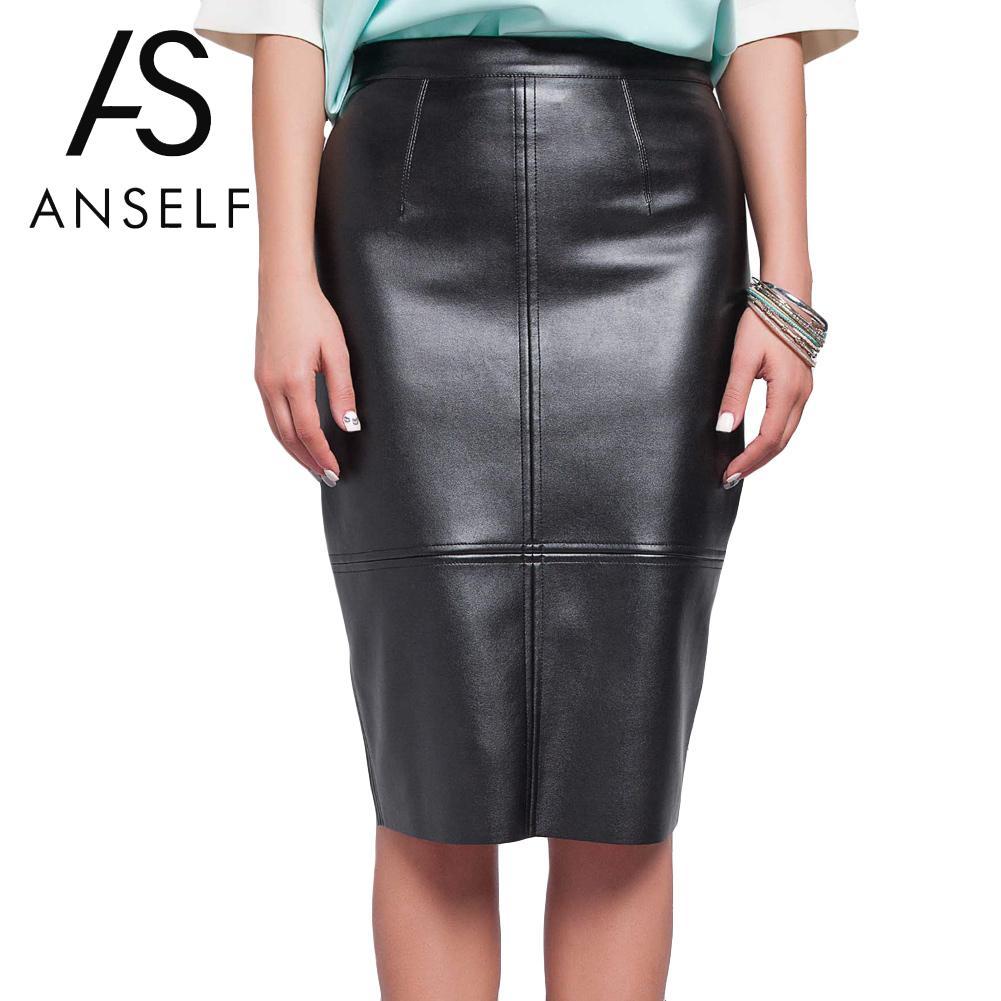 Popular Black Leather Skirt Women-Buy Cheap Black Leather Skirt ...