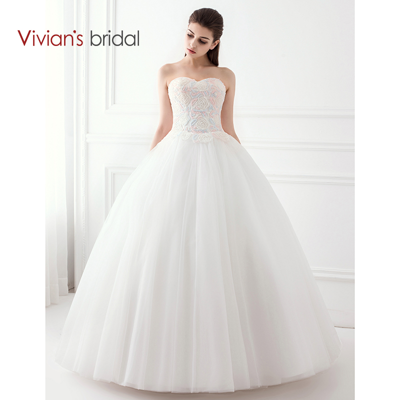 Vivian Wedding Gown: Vivian's Bridal Colorful Beading Sweetheart Sleeveless