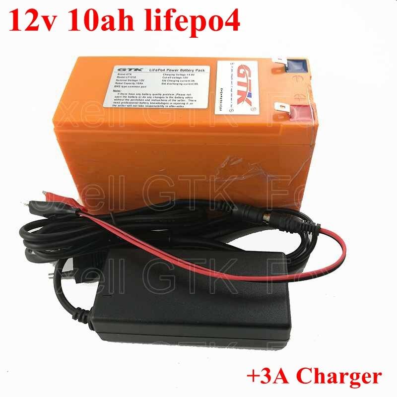 12 V Dc Batteria Al Litio Del Motore 12 V 10ah Lifepo4 Battery Pack Ricaricabile Con Bms Per 12 V Dispositivo Medico Macchina Fotografica Ebike + 3a Caricatore