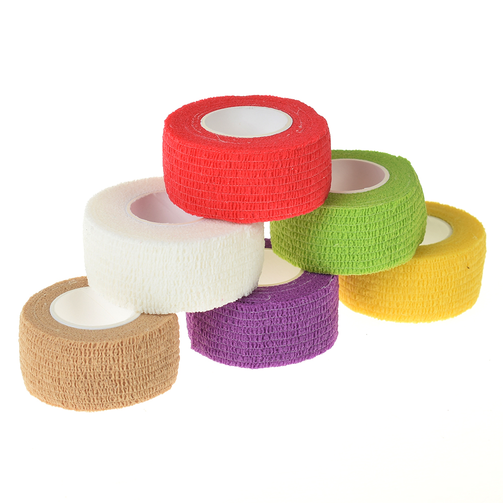 Self Adhesive Elastic 2.5cm Wide Elbow Tattoo Bandage Nail Tapes Finger Protection Wrap
