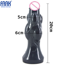 FAAK Big Anal Plug Soft Flexible Anal Dildo Large Butt Plug Anal Sex Toys for Woman and Men