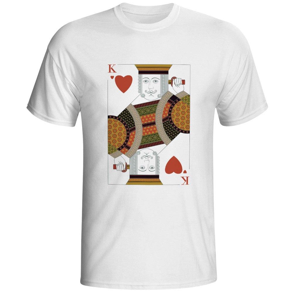 Heart King T Shirt Charlemagne Charles Carolus Magnus Poker Skate Pop Hip Hop T-shirt Novelty Creative Funny Unisex Tee