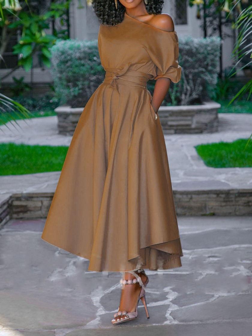 2019 New Elegent Fashion Style Summer African Women  Plus Size Dress M-4XL