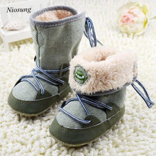 Niosung New Baby Soft Sole Crib Snow Boots Soft Crib Shoes Toddler Boots Infant Warm Kids