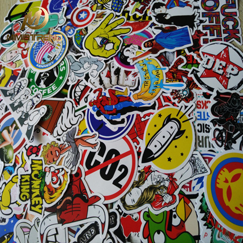 Mimiatrend 100 pcs Car Styling JDM decal Sticker for Graffiti Car Cover Skateboard Snowboard Motorcycle Bike Laptop Sticker Bomb 12 x60 30x150cm graffiti skull car styling suv wrapping film decal air free vinyl sheet scrawl camo sticker bomb free shipping