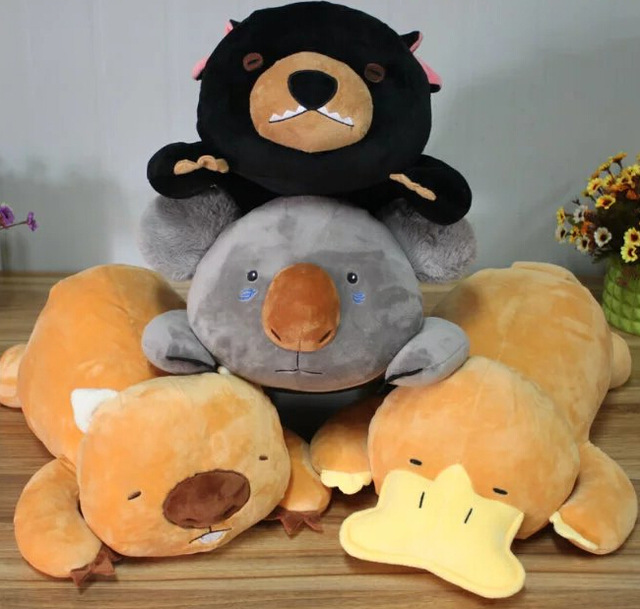 Candice guo plush toy stuffed doll cartoon animal papa platypus wombat koala bear sleeping pillow cushion baby birthday gift 1pc fancytrader new pop animal koala plush toy big stuffed plush koala doll 50cm best gift for children
