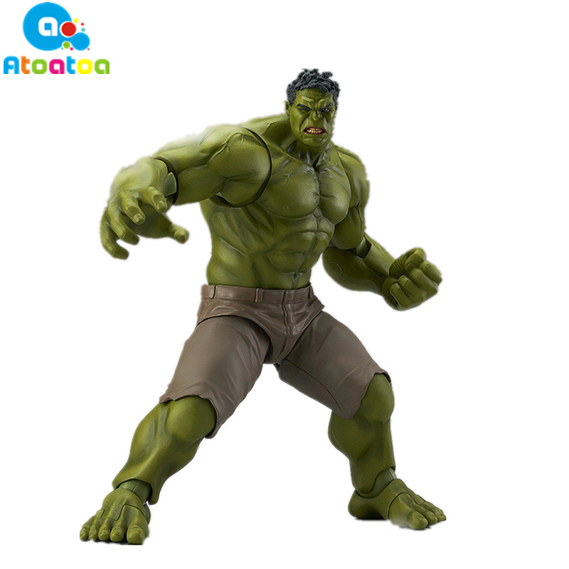 17CM anime The Avengers 2 hulk Figma Action Figures Toys Super Hero Hulk PVC Model Dolls Toys Birthday Gift No Box 2017 new avengers super hero iron man hulk toys with led light pvc action figure model toys kids halloween gift