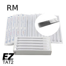 50 PCS Mixed Lot 5/7/9/11/13 RM Disposable Sterile Standard Tattoo Needles Round Magnum for Machine Grips Tips Supply