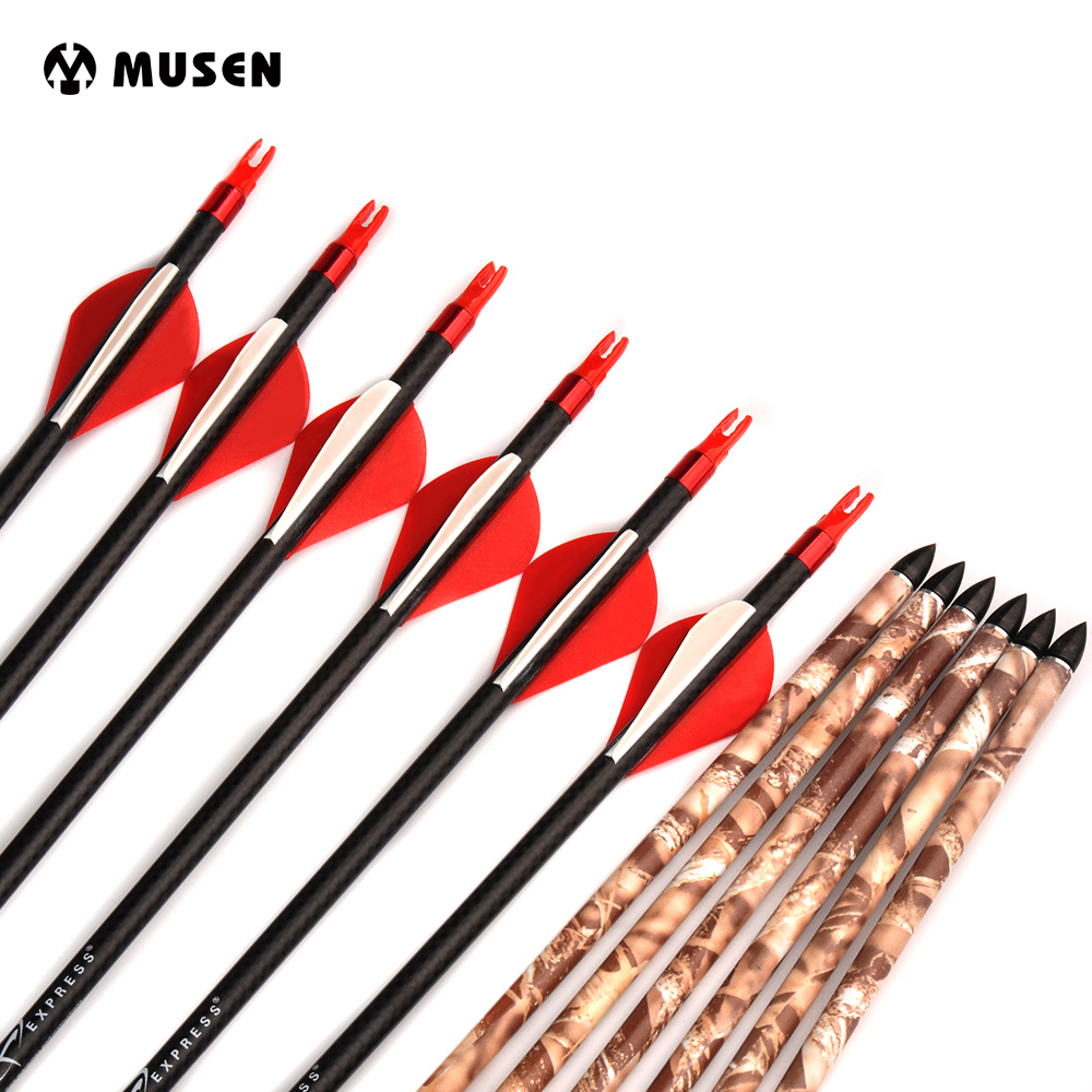6 12 24pcs 32 inches 3K Pure Carbon Arrow Spine 250 with Changable Arrowhead For Compound