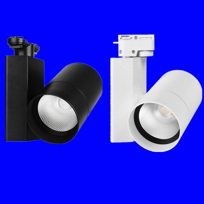ФОТО Free Shipping 10W 20W 30W 35W COB LED track light for store/shopping mall lighting lamp Color optional White/black Spot light
