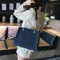 CROWDALE Chain shoulder bag Famous designer rivet handbags Women's luxury messenger bags for women bolsa feminina torebka damska