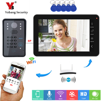 Yobang Security RFID Password 9 Inch Monitor WIFI Wireless Waterproof Door Phone Doorbell Camera Intercom System Android IOS APP