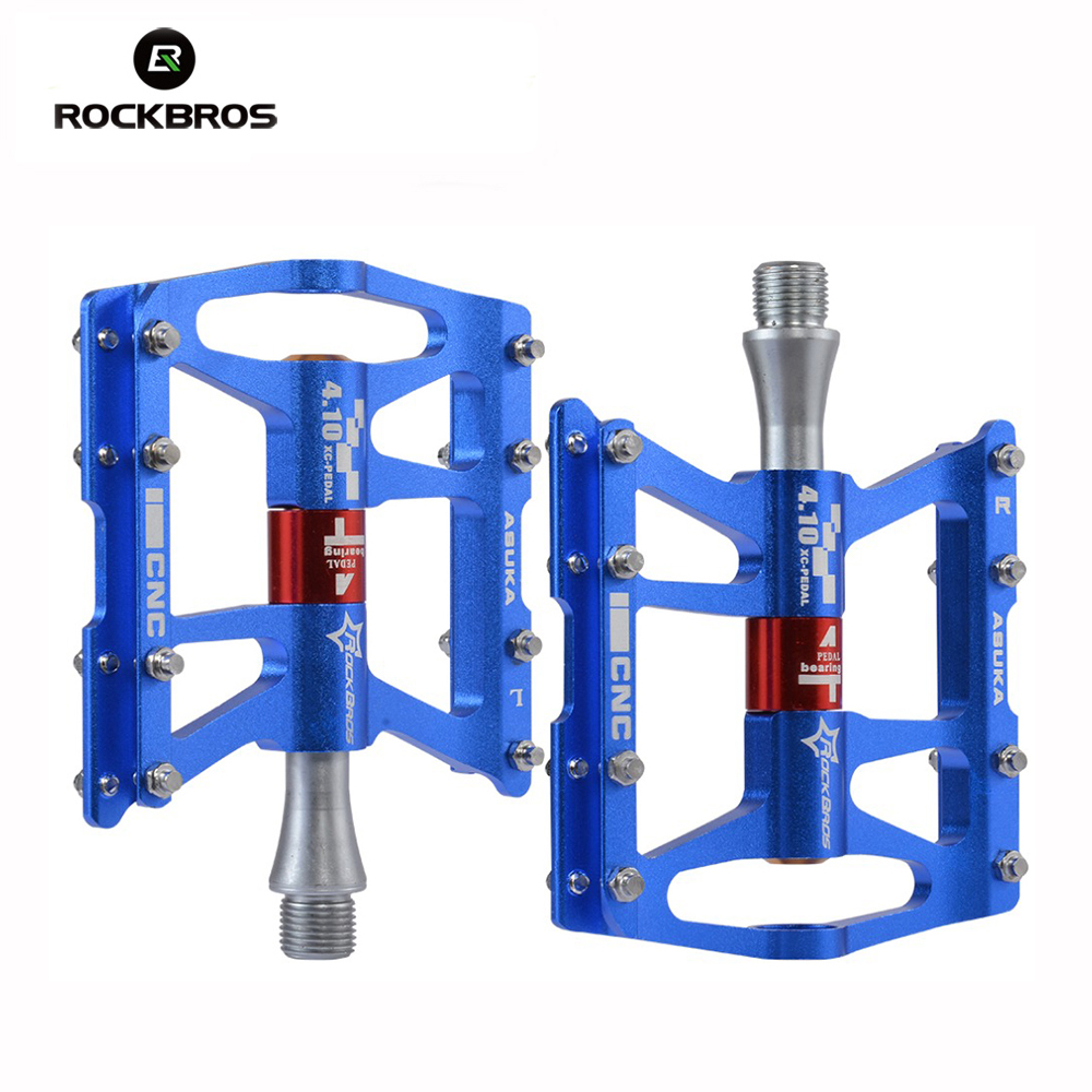 ROCKBROS Ultralight Bicycle Pedals Comium Molybdenum Alloy CNC MTB Mountain Road Bike Cycling Pedals Sealed 4 Bearings Pedals west biking bike chain wheel 39 53t bicycle crank 170 175mm fit speed 9 mtb road bike cycling bicycle crank