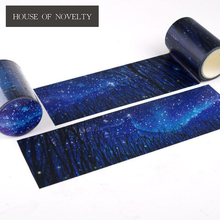 6 CM Wide  Night At The Starry Sky Washi Tape Adhesive Tape DIY Scrapbooking Sticker Label Masking Tape