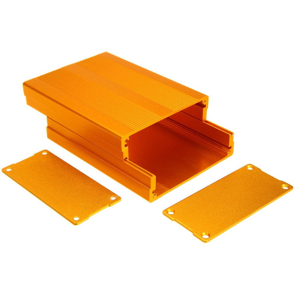 Aluminum Enclosure Box Gold Circuit Board Case Mayitr For Electronic Project Amplifier 100x76x35mm купить в Москве 2019