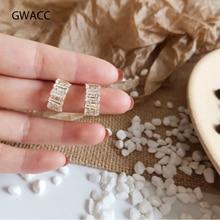 GWACC 2019 Original Design Zircon Super Flash Stud Earrings For Women Girls Round Elegant Simple Small Fashion Jewelry