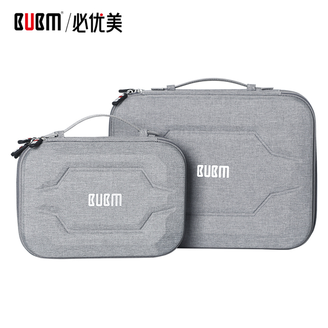 "BUBM bag for power bank digital receiving accessories EVA case for 9.7"" ipad cable organizer portable bag for USB"
