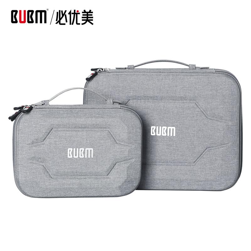 Сумка BUBM для внешнего аккумулятора, аксессуары для цифрового приема, EVA чехол для 9,7 ipad Кабельный органайзер, Портативная сумка для USB