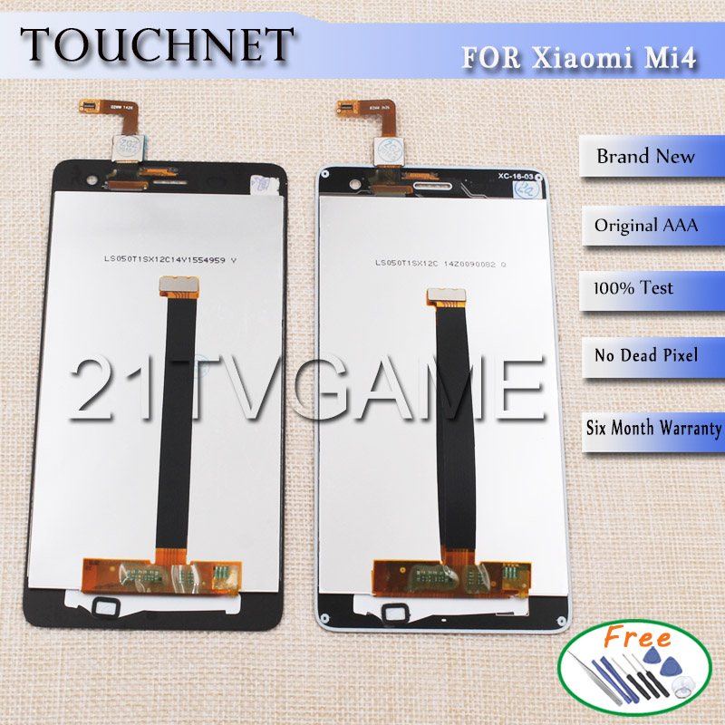 50Pcs Lot High Quality Repair LCD Display For Xiaomi Mi4 and Touch Screen Digitizer Replacement Smart