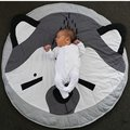 cute animal cotton crawling mat Fox game pad round carpet kids room decoration muslin swaddle photography props baby blanket