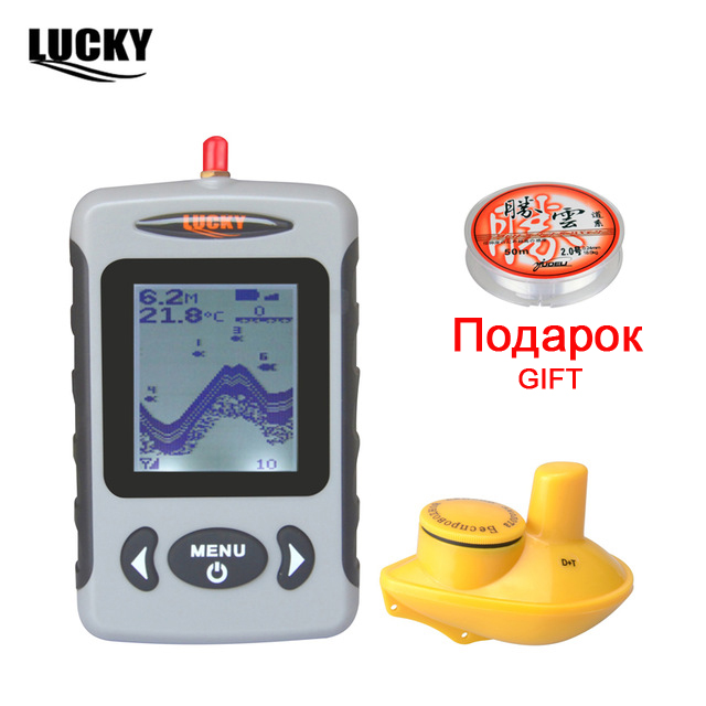 Russian Menu Wireless Sonar Portable Fish Finder Sensor Echo Sounder Detector Alarm River Lake Sea Bed Live 131ft/40M FFW718 mike davis knight s microsoft business intelligence 24 hour trainer