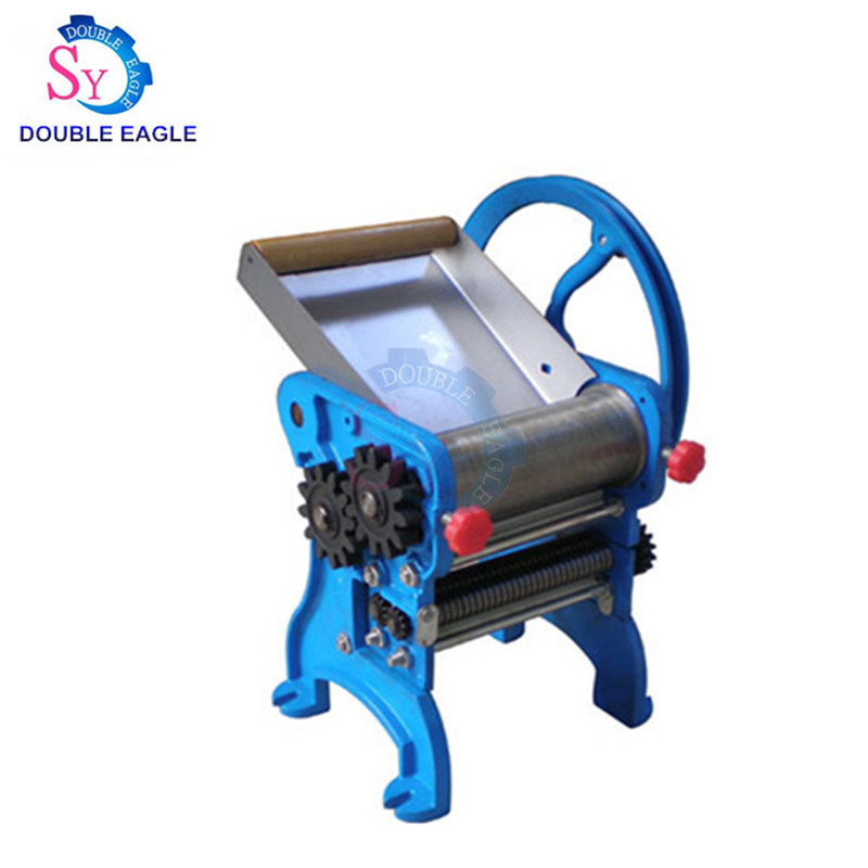 Household Cast Iron Manual Dough Roller Noodle Making Machine,bearing Style Hand Pasta Maker Machine With Two Blades
