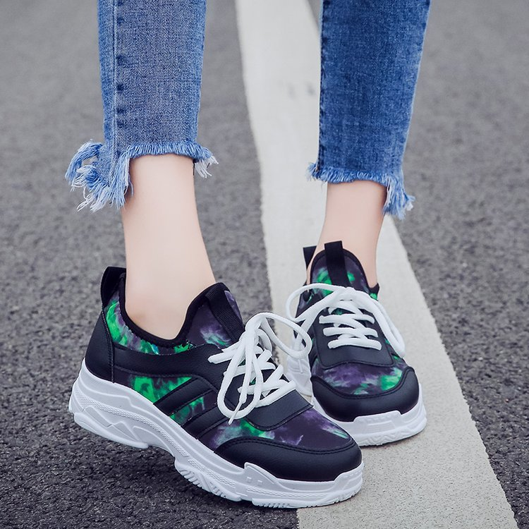 2019 nouvelle mode automne femmes chaussures dames chaussures décontractées haute plate-forme femme baskets