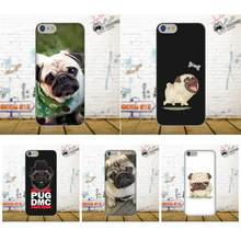 TPU Phone Cover Case Coque Funny Design Pug Dog For Apple iPhone 4 4S 5 5C SE 6 6S 7 8 Plus X Galaxy Grand Core II Prime Alpha(China)