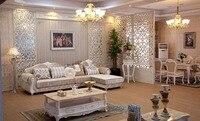 Stile europeo tessuto divano ad angolo divano set mobili soggiorno con poltrona/divano chesterfield/chaise/reclinabile