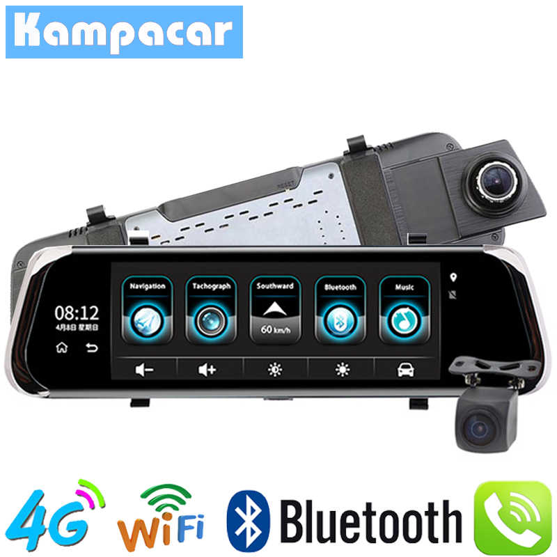 Kampacar ADAS Car Dvr 4G Parking Monitor With Reverse Camera Rear View Mirror GPS Navigator Full HD 1080P Dash Cam Recorder DVRs