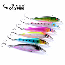 luya 6 color a suit of Artificial bait Minnow Fishing 7.5cm/5g The bionic Diving depth outdoor plastic Hard Lure Tackle