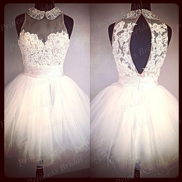 Free Shipping 100% Actual Images Ball Gown Puffy Halter Neck ...