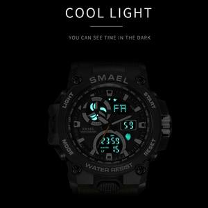 Image 5 - SMAEL 2020 Sport Watch Men Dual Time Waterproof 50M Miliatry Watches Chrono Alarm Wristwatch Vintage Classic Digital Watch 8011