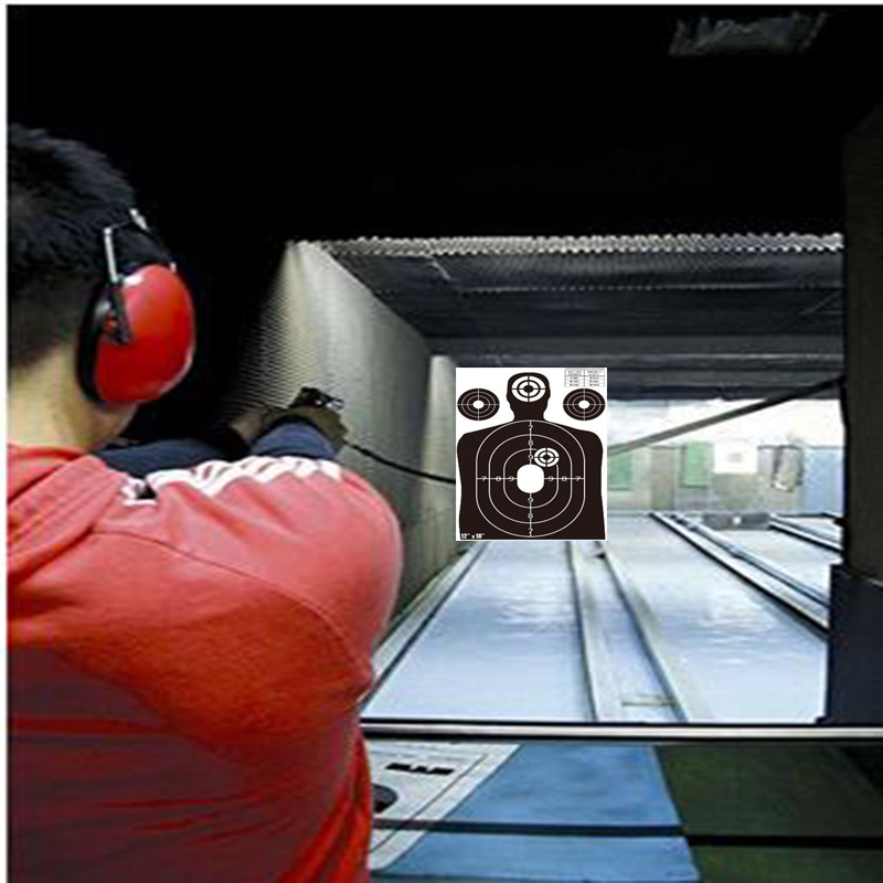 12*18 zombie spaltter shooting target with bright color- Instantly See Your Shots Burst Florescent white Upon Impact!