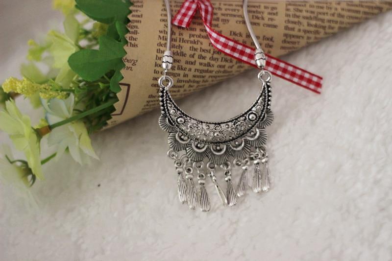 9da8be011b4c Joyería Al por mayor de Europa plata tibetana declaración vintage Collares  Tallados collar y colgantes para mujer
