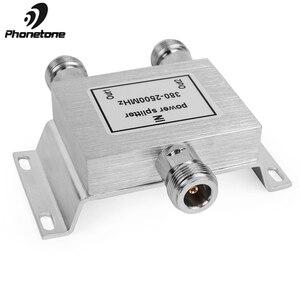 Image 4 - 2 طريقة مُقسم القدرة الكهربية هاتف محمول مكرر إشارة 380 2500Mhz 2 طريقة إشارة الخائن للهاتف المحمول إشارة الداعم مكبر للصوت 50ohm