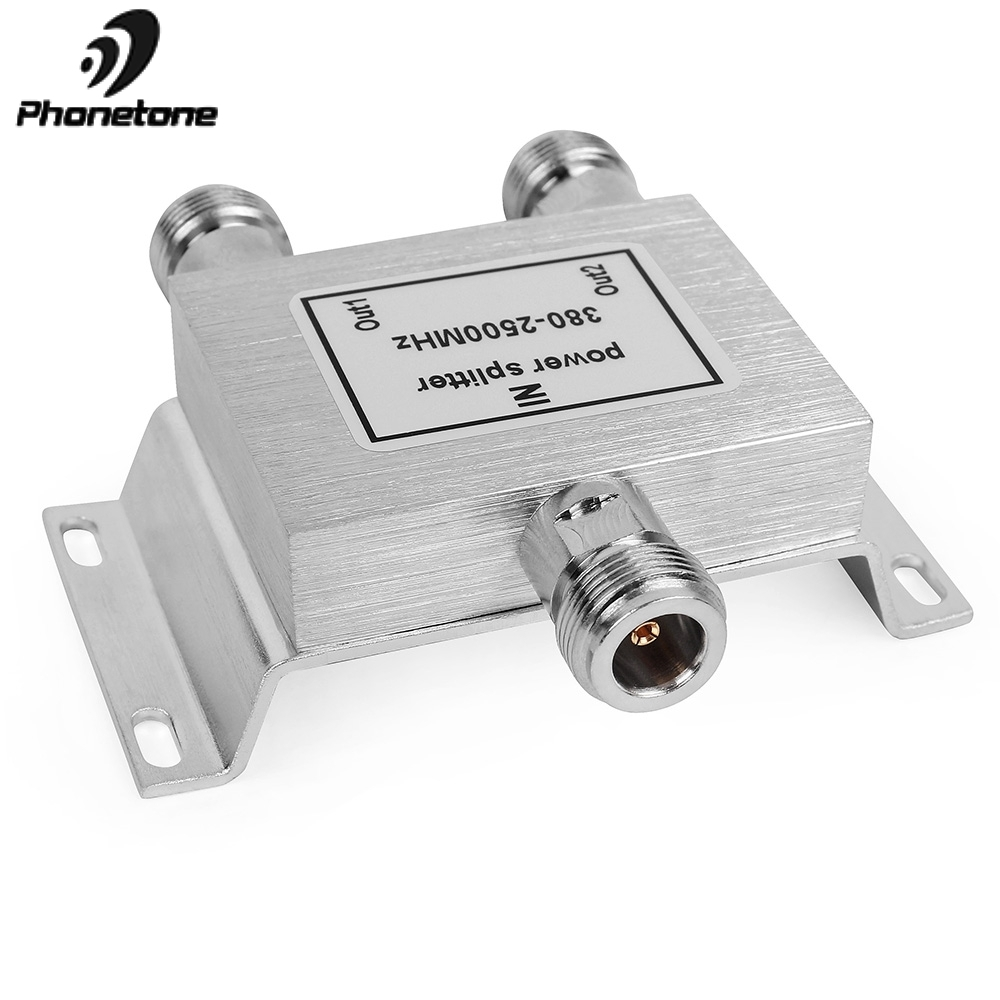 US $15 19 20% OFF|2 Way Power Divider Cell Phone Signal Repeater 380  2500Mhz 2 Way Signal Splitter for Mobile Phone Signal Booster Amplifier  50ohm-in